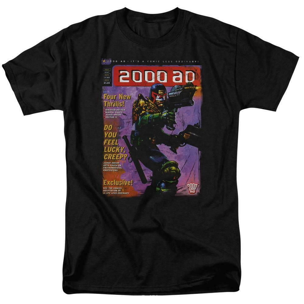 2000 AD Judge Dredd Cover T Shirt  80s 70s retro comic book graphic tee JD103