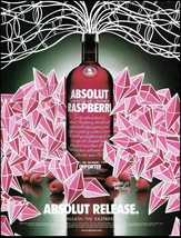 Absolut Vodka 2005 Raspberri ad 8 x 11 advertisement Unleash The Raspberry - $4.50