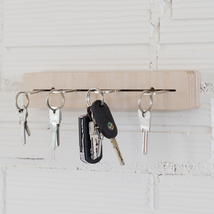 hanger for keys, always arranged and located, made of wood - $28.00