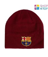 FC BARCELONA KNITTED BEANIE HAT BURGUNDY CAP FOOTBALL SOCCER CLUB TEAM NEW - $10.13