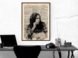 Music Art Print-Neil Young Art Print-Music Prints-Vintage Art-Home Decor... - $11.82