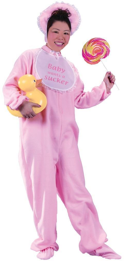 Be My Baby Costume Pink Adult One-Piece Men Women Funny Unique Halloween FW5049P