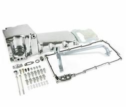 Rear Sump Retro Fit Oil Pan Compatible with LSX Lightweight Cast Aluminum Chrome