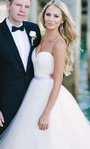Simple A Line Sweetheart Wedding Dresses Beaded Pleated Bridal Gowns image 5