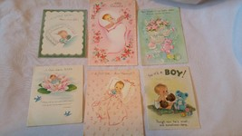 VIntage Greeting Cards Halmark Norcross 6 Cards - $7.91