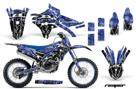 Dirt Bike Decal Graphic Kit Mx For Yamaha YZ250F YZ450F 2014-2018 Reaper Blue - $169.95