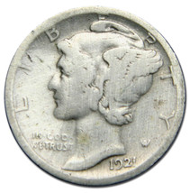 1921D Mercury Silver Dime 10¢ Coin Lot MZ 2661