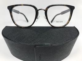 New Authentic Prada VPR 10T 2AU-101 Dark Havana & Silver Eyeglasses 51mm w/Case - $92.14