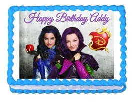 Disney Descendants Mal and Evie party edible image cake topper frosting ... - $9.99
