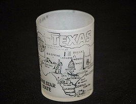 Vintage Hazel Atlas Texas The Lone Star State Shot Glass Man Cave Barware Tool - $9.89
