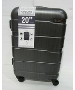 """New Coolife 1 Travel Luggage Suitcase PC+ABS TSA lock Charcoal Gray 20"""" ... - $77.49"""