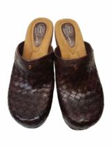Brown Leather Dr Scholls Women Mule Clog Shoes Size 8 image 3