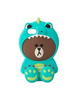 LINE Friends Dino BROWN Silicone Case iPhone 7, 7 Plus Cover Mobile Skin... - $40.19+