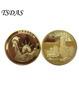 USA Freedom Metal Gold Plated Coin 9.11 Commemorative Coins Un-circulate... - $5.50