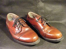 Men's Bass Webster Brown Leather Oxfords Dress Shoes Size 8.5W Nice Cond... - $25.82