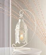 Set of 6 White Moroccan hanging Candle holder Lantern Wedding centerpiec... - $99.00