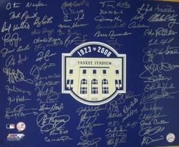 New York Yankees signed 16x20 Photo 2008 Yankee Stadium Final Season Logo with 7 - $343.95