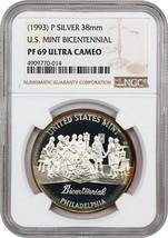 1993-P Medal PCGS PR 69 DCAM (U.S. Mint Bicentennial Medal, Silver) - $266.75