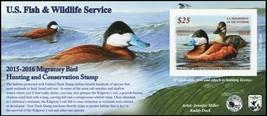 RW82A, 2016 Ruddy Duck Stamp Self-Adhesive Pane - Stuart Katz - $39.95