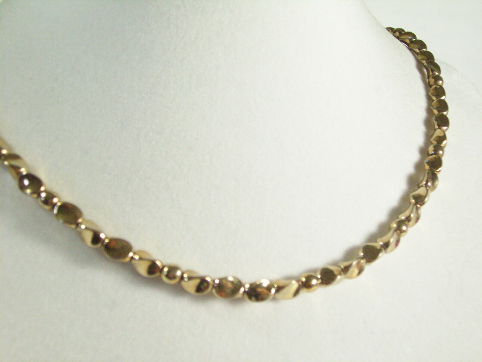 CITATION Gold Plated NUGGET Shape Chain Necklace Choker Vintage Estate Career