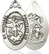 Air Force / St. Michael Pewter Pendant on a 24 inch  image 2