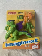 Imaginext Green Knight & Dragon Fisher-Price Imaginext Castle Retired New RARE - $12.59
