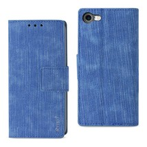 REIKO IPHONE 7/ 6/ 6S DENIM WALLET CASE WITH GUMMY INNER SHELL AND KICKS... - $12.99