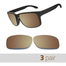 3 Pair Optico Replacement Polarized Lenses for Oakley Holbrook Sunglasse... - $13.99