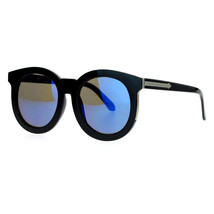 Womens Oversized Round Sunglasses Arrow Design Color Mirror Lens - $9.85+