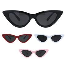 Girls Kid Size Mod Plastic Cat Eye Minimal Chic Retro Sunglasses - $9.95