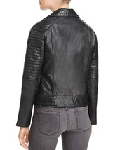 Classic Padded Sleeve Women's 100% Genuine Soft Lamb Skin Leather biker ... - $149.00