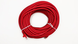 50FT Crossover CAT5E Red Xover Ethernet Lan Cable Cord Connect Pc To Pc - $9.89