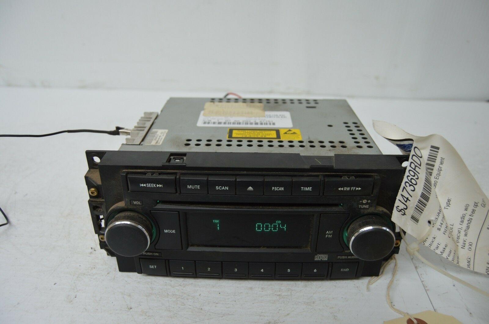 2004-2010 CHRYSLER 300 RADIO CD PLAYER OEM RADIO P05064071AG OEM G53#023 image 2