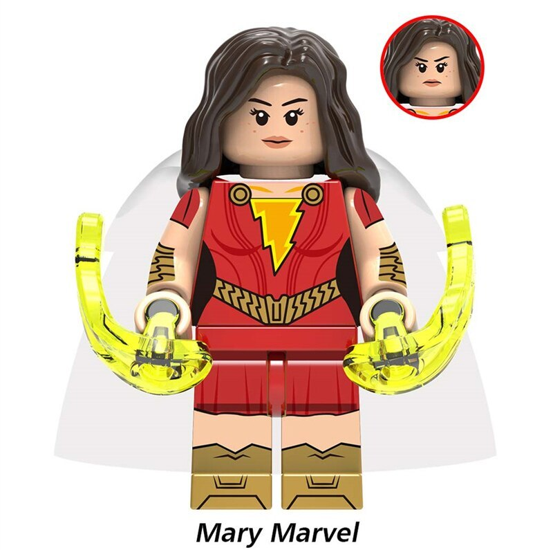 Mary Marvel (Mary Bromfield) DC Comics Shazam Theme Lego Minifigures Toy Gift