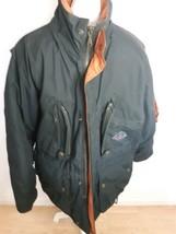 Vintage Stratojac Coat Jacket Down Feather 1980's Black Size Medium Puff... - $69.25