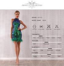 New Summer Runway Sleeveless Fashion Sequin Mini Dress image 3