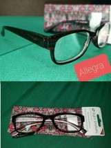 2 Pair +3.50 Sight Station Foster Grant Womans Allegra Reading Glasses + Cases - $18.12