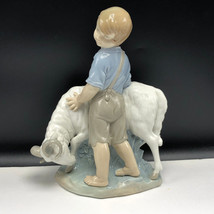 LLADRO NAO DAISA SPAIN FIGURINE porcelain statue sculpture Obstinate goa... - $222.75