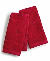 2 Pc Martha Stewart Christmas Tree Guest Hand Towels Red NWT FREE SHIPPING - $24.74