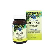Whole Earth & Sea Men's 50+ Multivitamin & Mineral, Raw, Whole Food Nutrition, 6 - $30.07