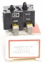 NIB EATON CUTLER-HAMMER 10250T40 CONTACT BLOCK 1 N.O. 1 N.C. SER. A4