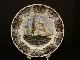 Tall Ships Collector Plate | Currier & Ives Print | Made by Churchill | ... - $7.99