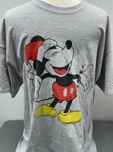 Mickey Mouse Avec Santa Chapeau Noël T-Shirt Disney Extra XL - $19.32