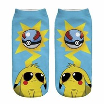 Pikachu Sunglasses Anime Pokemon Low Cut Ankle Socks New Women's 9-11 Fa... - $6.49