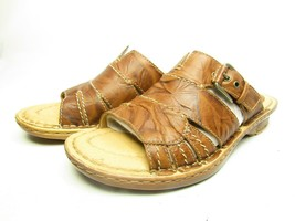 EARTH  Willow  Leather Sandals Slides  Brown Size 8.5 B - $28.84
