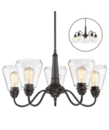Chandelier Altair Lighting 5 Light LED Dimmable Pendant Reversible Arms ... - $57.00