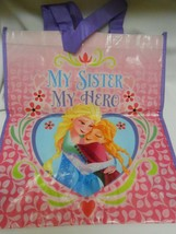 New Disney Frozen My Sister My Hero reusable shopping Tote Bag Elsa Anna - $6.68