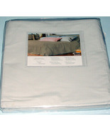 Sferra Alma Memoria Queen Duvet Cover Solid Lt. Grey Cotton Percale Ital... - $148.90