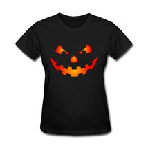 Halloween Great Tee Evil Face Halloween Women t shirt Funny Best GF National Fla - $19.99