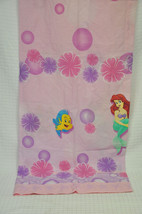 VTG Disney THE LITTLE MERMAID Special Edition PINK Curtain PANEL Flounde... - $29.65